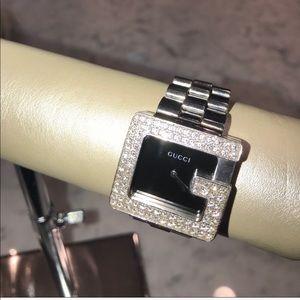 Gucci Men's Diamond Bezel G Watch